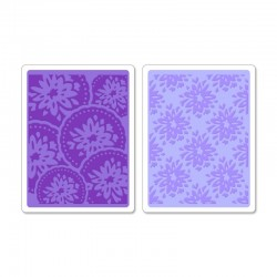 Embossing Folder Sizzix -  Courtyard & Medallion Set