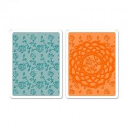 Embossing Folder - Doily & Roses Set