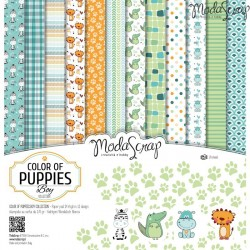 Kit carte ModaScrap - Color of Puppies Boy