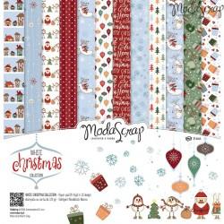 "Kit carte ModaScrap - 12""x 12"" White Christmas"