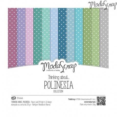 Pad Carte 15x15cm ModaScrap - Thinking About... Polinesia