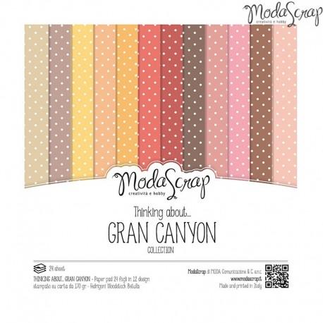 Pad Carte 15x15cm ModaScrap - Thinking About... Gran Canyon