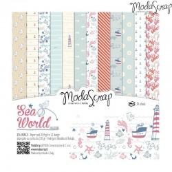 Pad Carte 15x15cm ModaScrap - Sea World