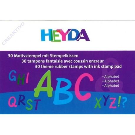 Confezione Mini Timbri Heyda - Alphabet