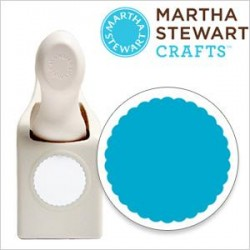 Punch Martha Stewart- 1 inch scalloped circle