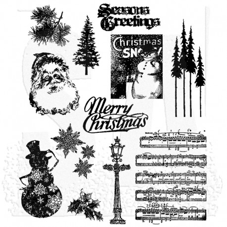 Timbro Cling Tim Holtz - Mini Holiday 2
