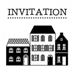 Timbri clear Artemio + Base - Invitation