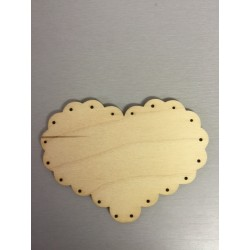 Abbellimento in legno - Cuore forato