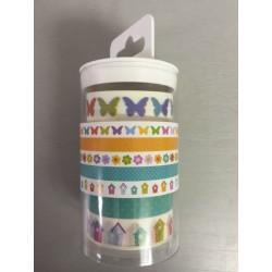 Artemio conf 5 Washi Tape - Case Farfalle e Fiori