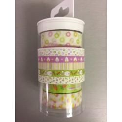 Artemio conf 5 Washi Tape - Pulcini e Conigli