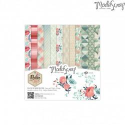 """Pad Carte 6""""x6"""" ModaScrap - Relax In The Garden"""