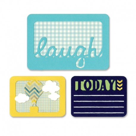 Fustella Sizzix Thinlits - Laugh today