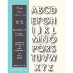 Fustella Memory box - Parker Upeercase Alphabet