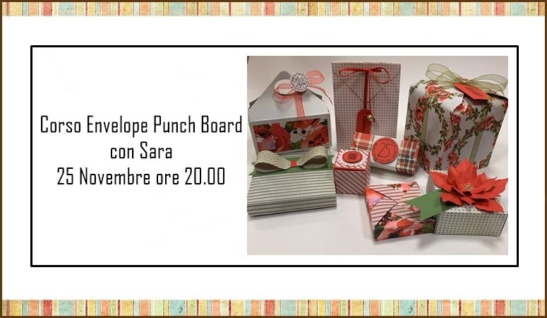 Corso Envelope Punch Board con Sara